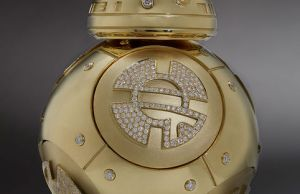 Custom-Designed Gold and Diamond BB-8