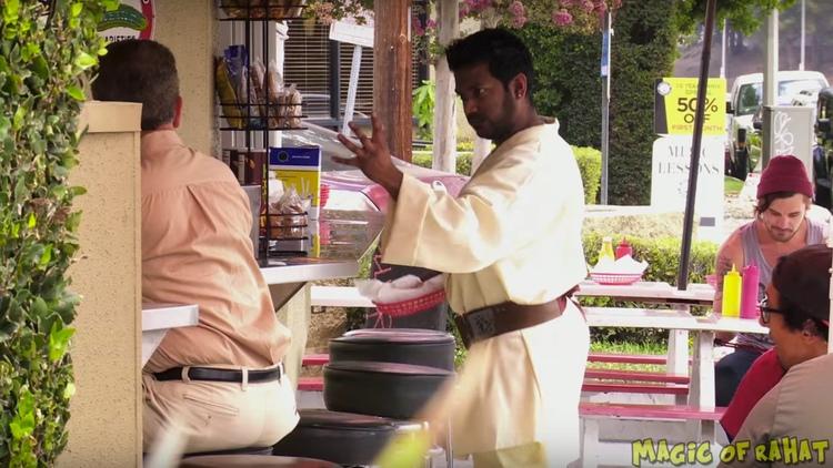 STAR WARS Prank: Jedi Power Force to Grab a Ketchup Bottle