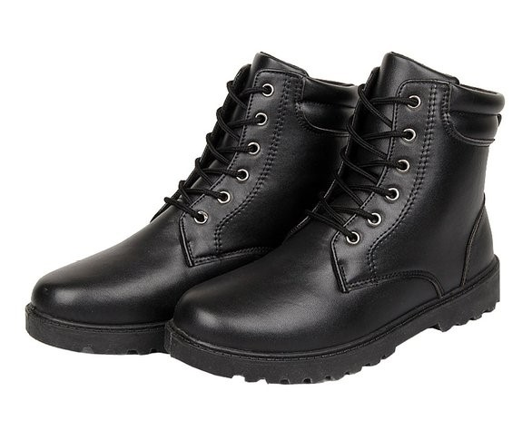 Round Toe Lace-Up Boots