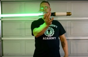 Weird Mashup of DOCTOR WHO Sonic Screwdriver Lightsaber