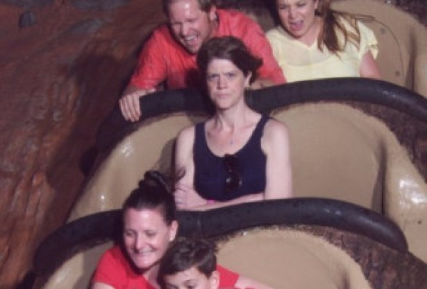 Woman On Splash Mountain