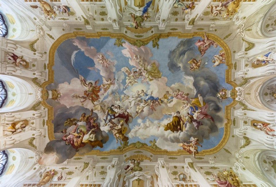 The Ceiling Fresco at Seitenstetten Abbey, AustriaThe Ceiling Fresco at Seitenstetten Abbey, Austria