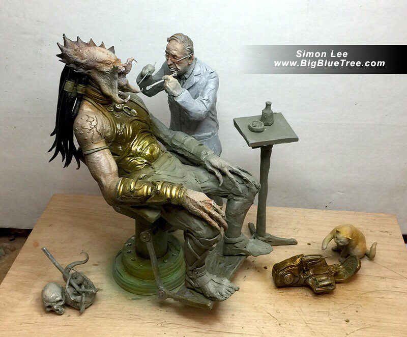 Hilarious Predator Goes To a Dentist Fan-Made Statue