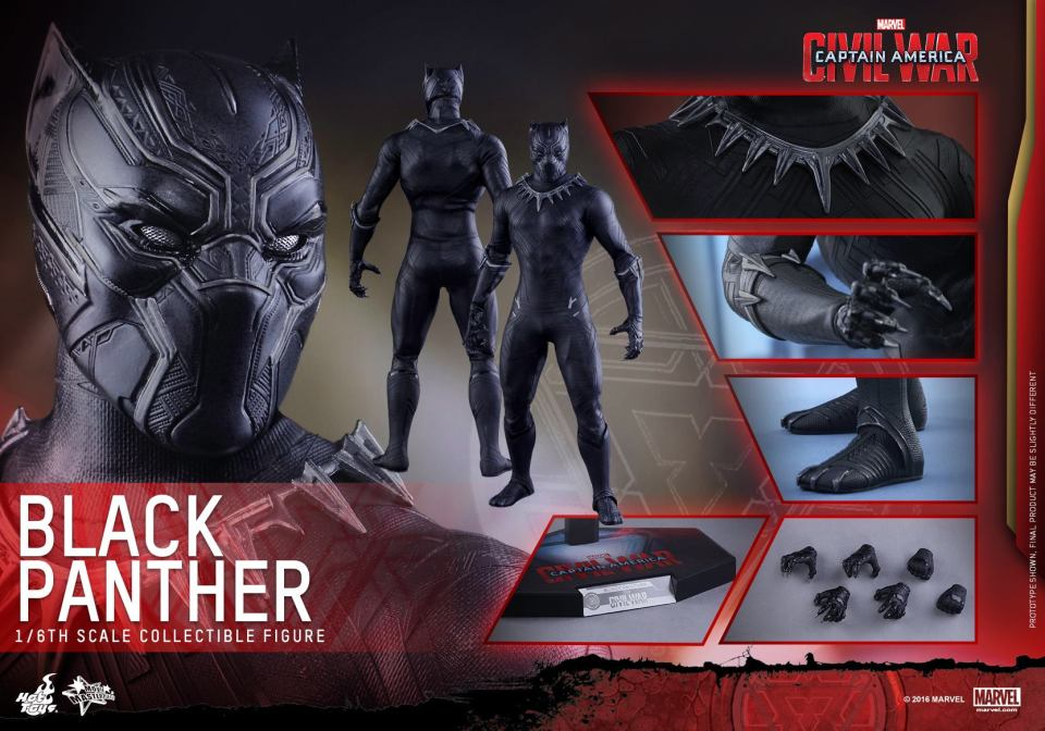 Black Panther Collectible Figure By Hot Toys