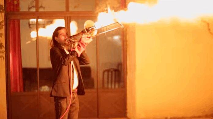 Fire Breathing Trombone