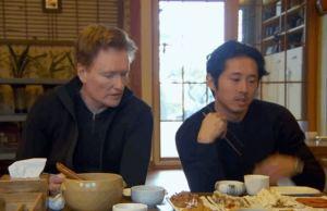 Conan O'Brien and Steven Yeun Enjoying Korea