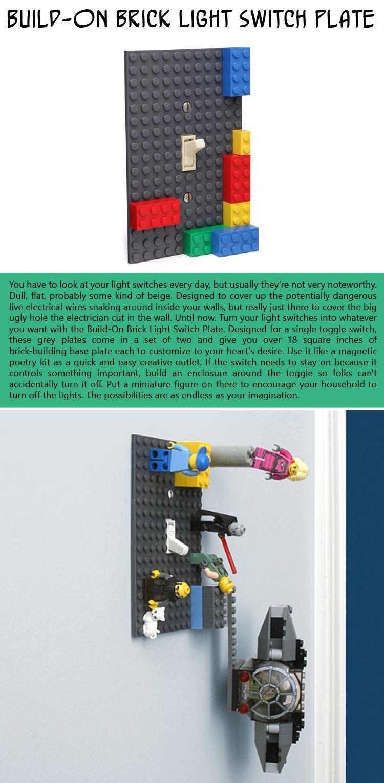 Build-On-Brick-Light-Switch-Plate
