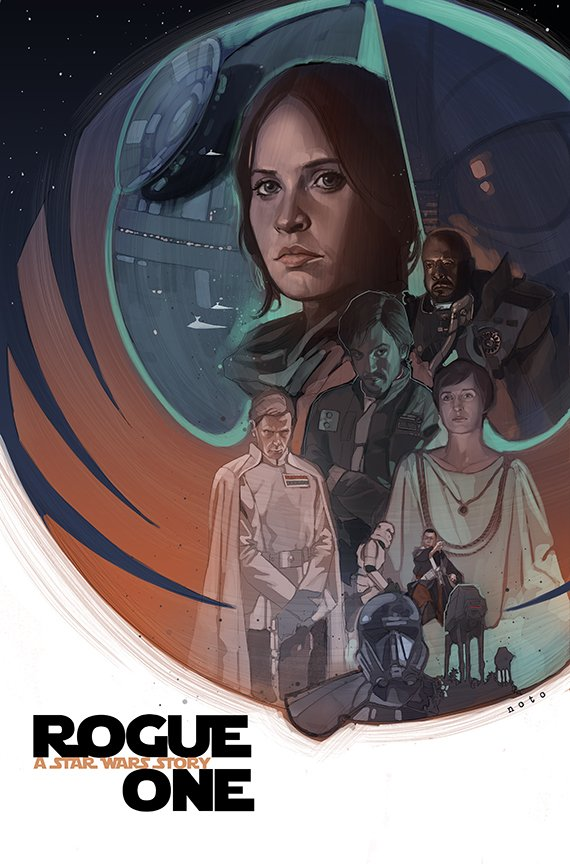 Fan Art Poster Of ROGUE ONE A STAR WARS STORY