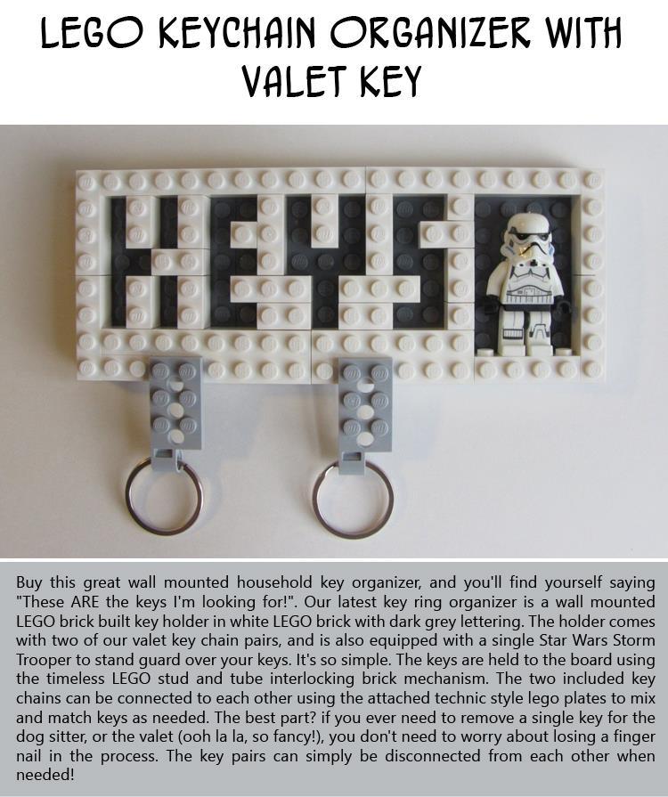 Lego-Keychain-Organizer-with-Valet-Key
