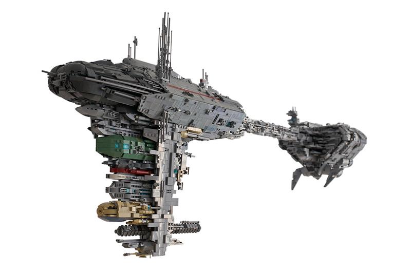 Gigantic Lego Star Wars Rebel Medical Ship