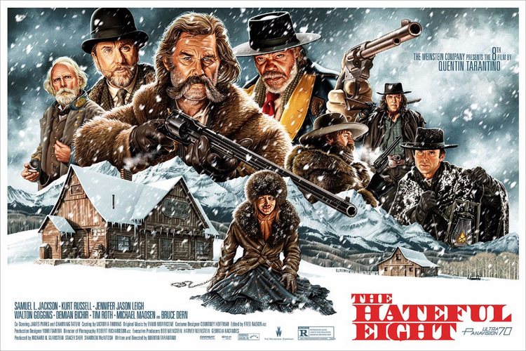 THE HATEFUL EIGHT Movie PHOTO Print POSTER Quentin Tarantino Film Art 8 002