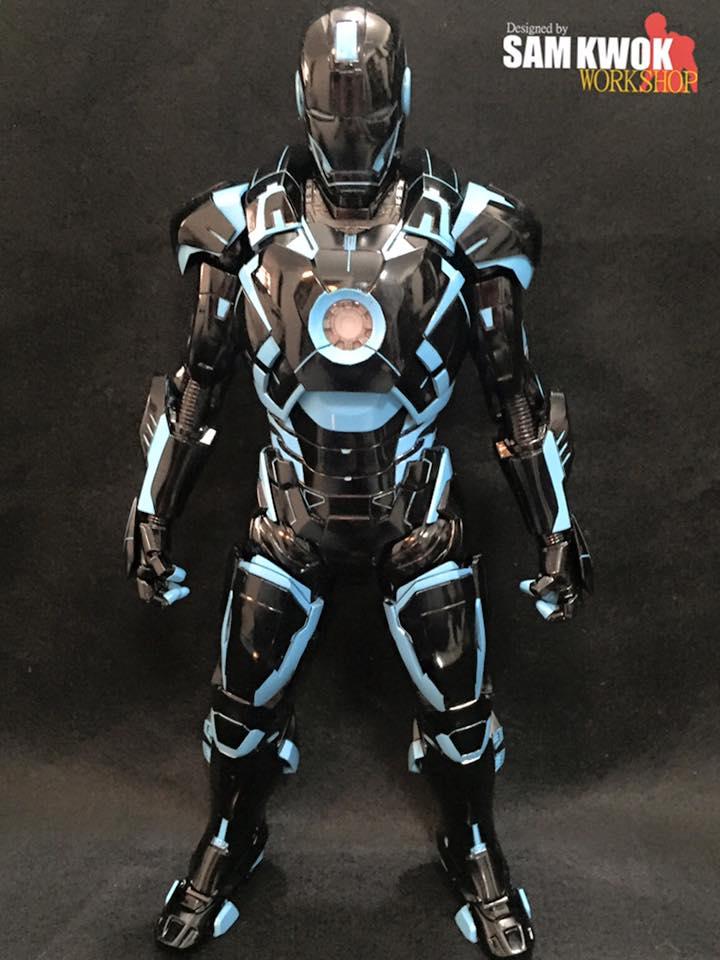 Custom Made TRON-Style Iron Man Action Figure