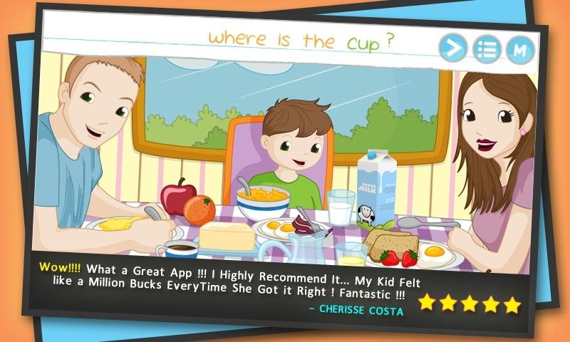 4_Words for kids reading games application