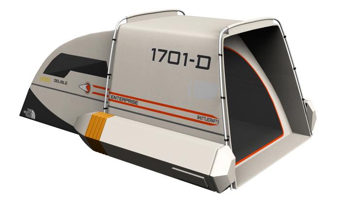 Awesome Tent Design Based on a Star Trek Federation Shuttlecraft (2)