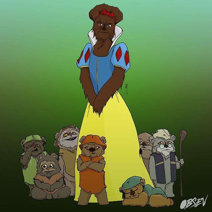 Disney Princesses As Wookies