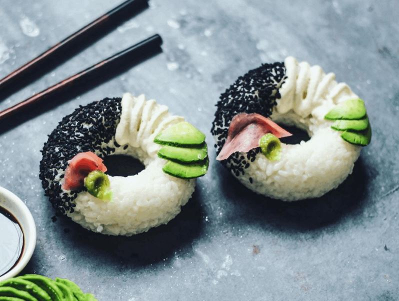 Vegan Rice Donuts Looks Like Pieces of a Sushi Roll