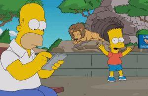 Homer Simpson Plays Pokémon Go
