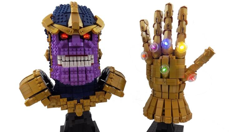LEGO Thanos With The LEGO Infinity Gauntlet