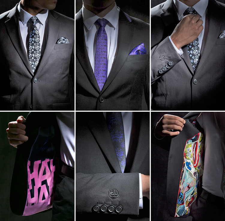 Geeky DC and Marvel-Themed Business Suits