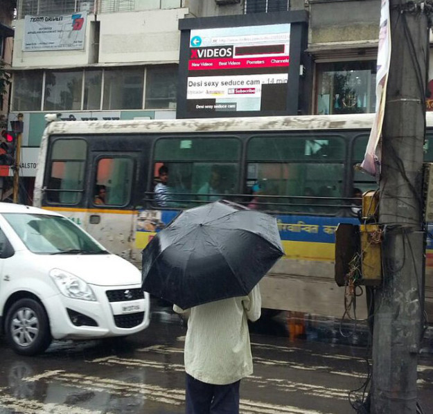 Giant Ad Screen In India Started Streaming Porn In Broad Daylight
