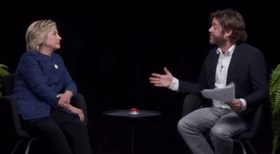 Hillary Clinton's Awkward Interview With Zack Galifianakis