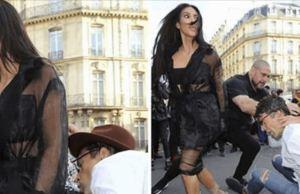 Prankster Tried To Kiss Kim Kardashian Butt