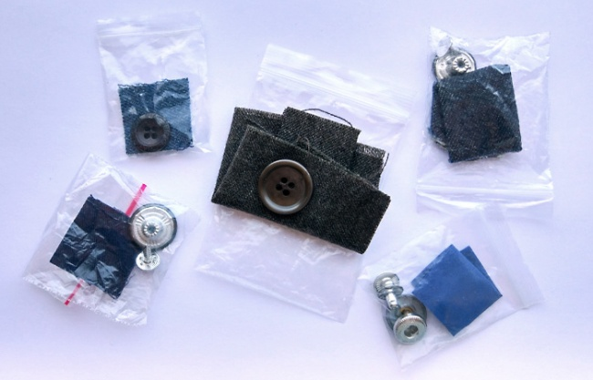 The scrap of material that comes with new clothes