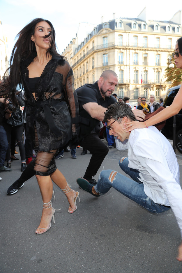 Prankster Tried To Kiss Kim Kardashian Butt