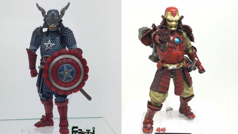 Captain America and Iron Man Gets Samurai Makeover