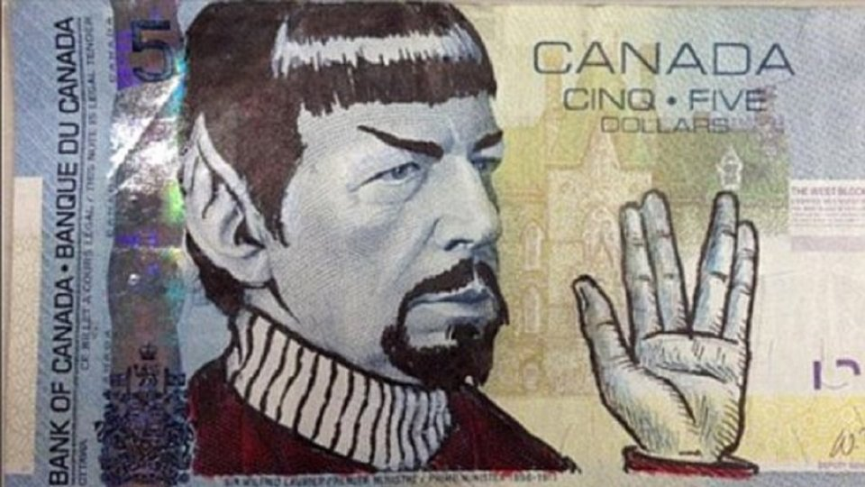 Canadians Are Spockifying Their $5 Bills