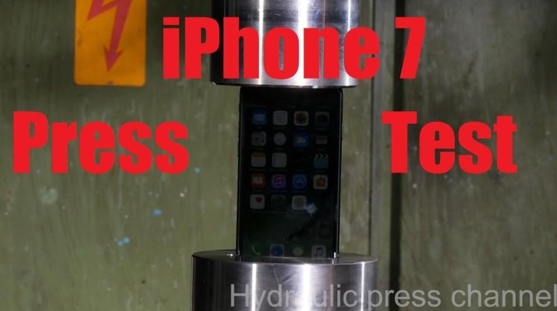 iPhone 7 Hydraulic Press Test