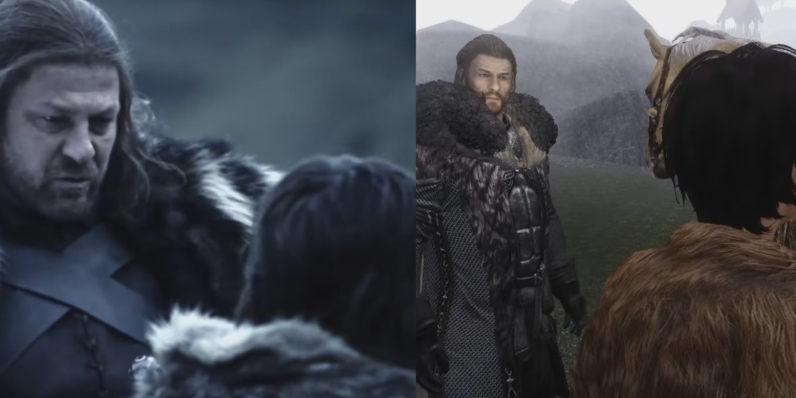 Game of Thrones Season 1 Trailer Recreated in Skyrim