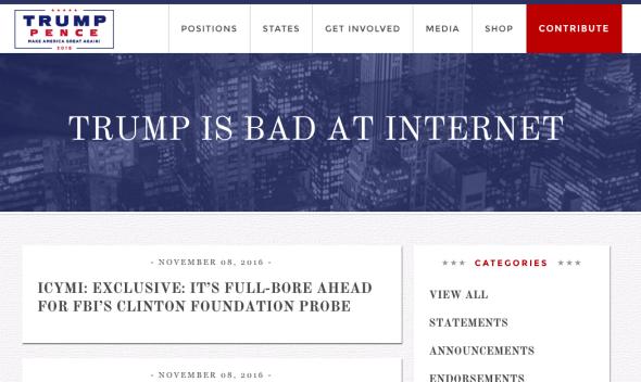 Donald Trump's Website