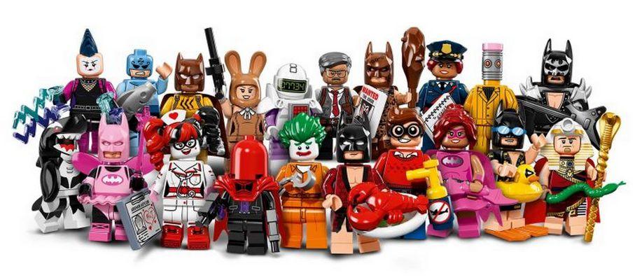 The Lego Batman Movie Minifigure Set