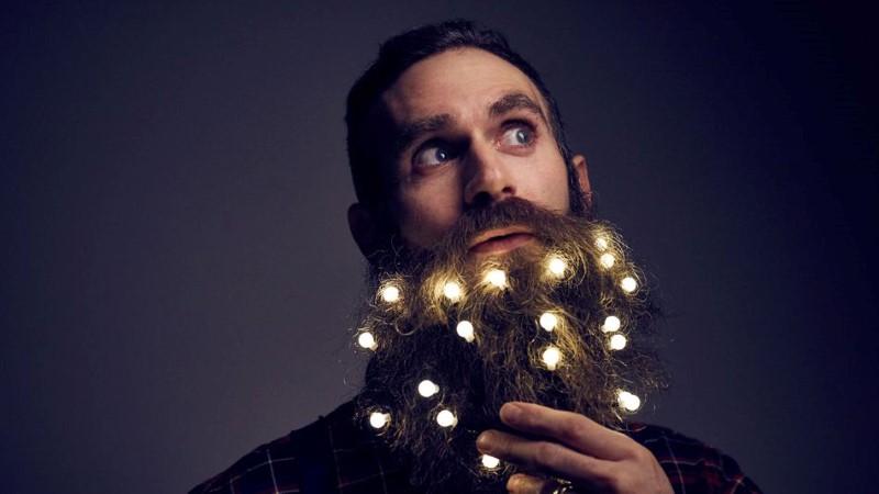 Beard Christmas Lights