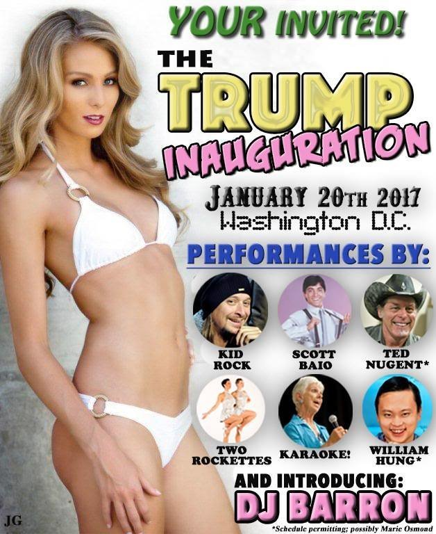 Trump Inauguration Flyer Which You Should Be Sharing Right Now