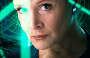Carrie Fisher star wars poster