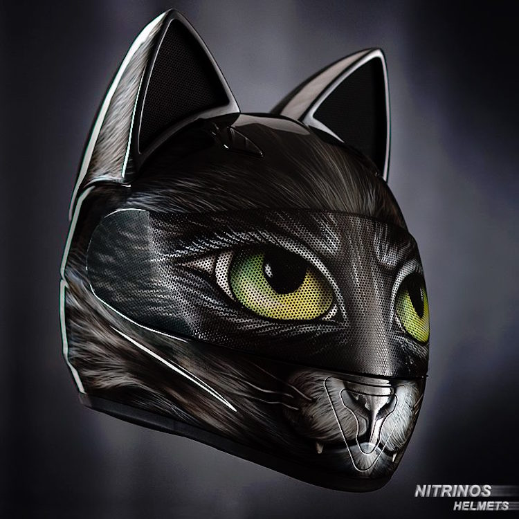 Cat Themed Motorcycle Helmets