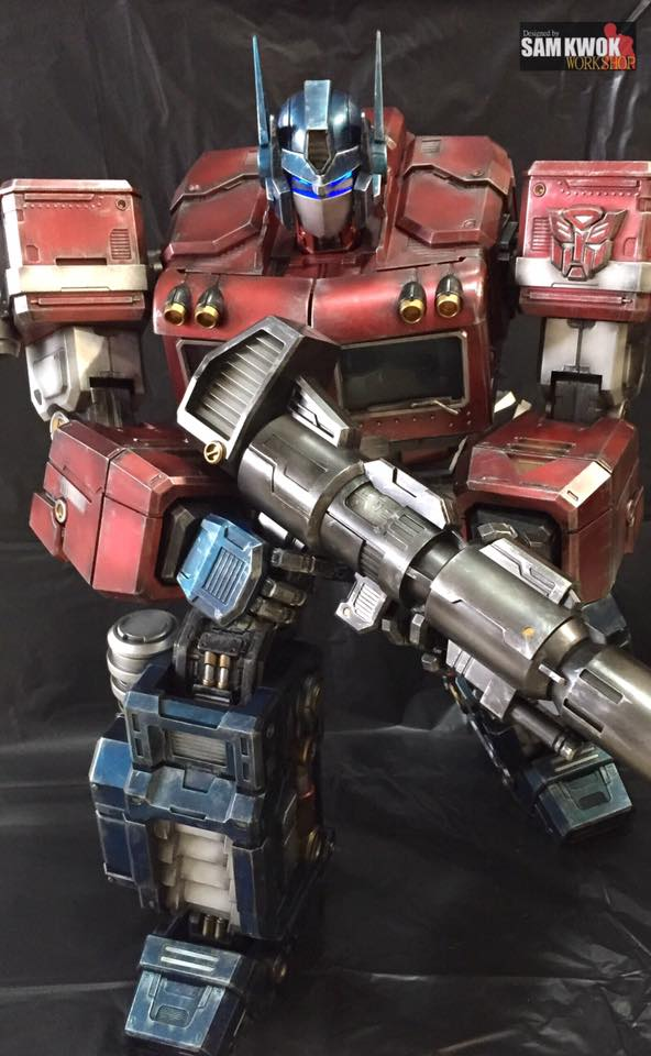 Custom-Made Optimus Prime Action Figure
