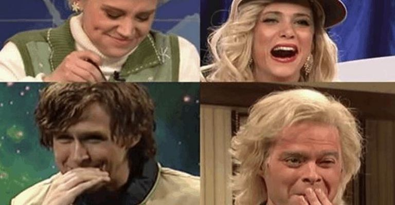 Saturday Night Live Stars Breaking Character In This Funny Compilation Videos