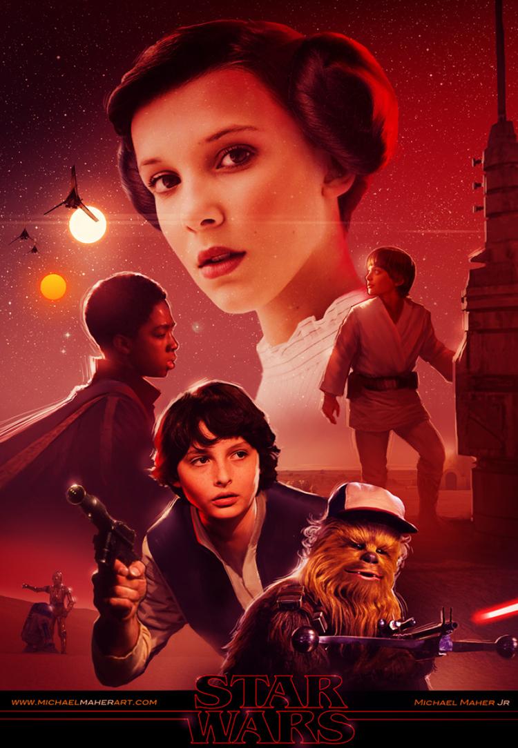 Stranger Things Mashed Into Star Wars