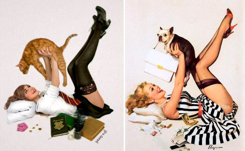 HARRY POTTER Cosplayer Did Amazing Classic Pin-Up Art