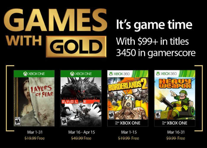 Free Xbox Live Games For March 2017 Revealed