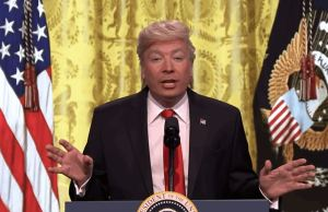 Jimmy Fallon as trump