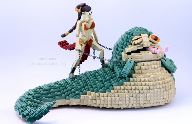LEGO Star Wars Princess Leia And Jabba the Hutt