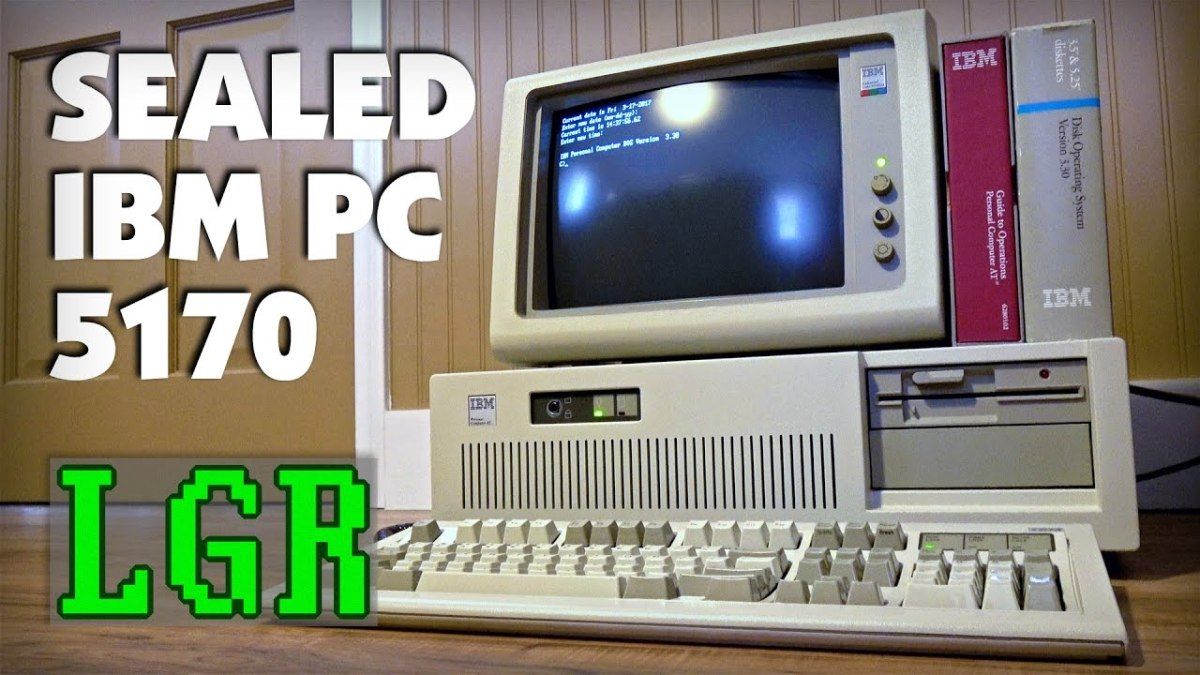 Unboxing New IBM PC AT Built in 1988