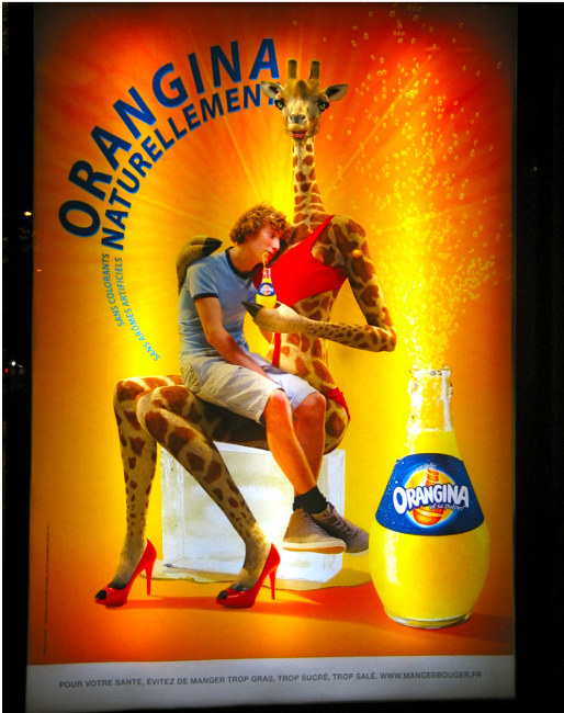 Sexy giraffe, Orangina advert