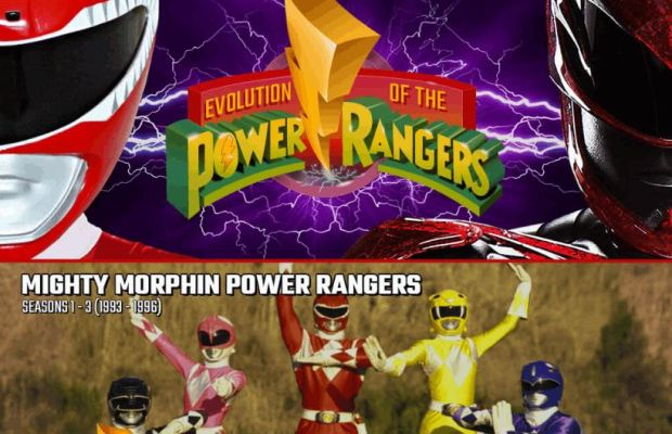 Evolution of POWER RANGERS