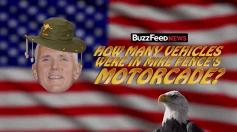 US Vice President's Motorcade