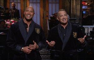 Dwayne Johnson and Tom Hanks